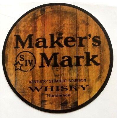 """Maker's Mark Whisky 7"""" Diameter Aluminum Sign"""