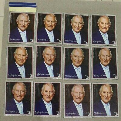 Malaysia 2017 Royal Visit Prince Charles Stamp CTO 12pcs
