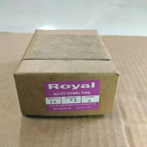 "Pack of 10 - 1"" x 3"" Royal Dowel Pins Alloy Steel"