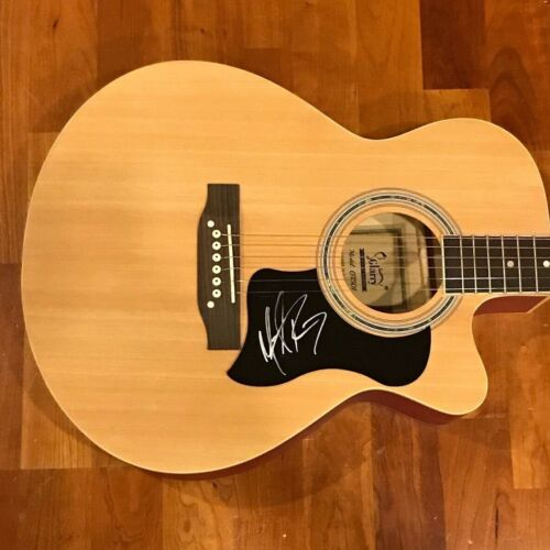* MICHAEL RAY * signed acoustic guitar * ONE THAT GOT AWAY * PROOF * 3