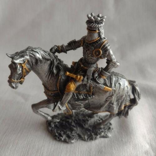 Veronese Pewter Medieval Knight on Horseback Figurine 2009 Missing Axe