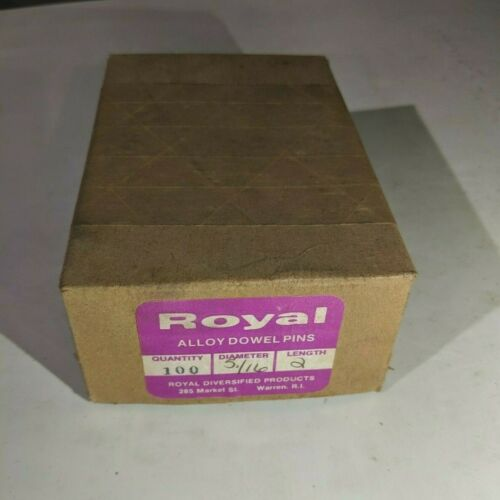 "Pack of 100 - 5/16"" x 2"" Royal Dowel Pins Alloy Steel"