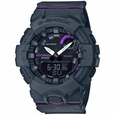 Authentic G-Shock G-Squad Black & Purple Bluetooth Watch GMAB800-8A