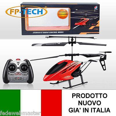 MINI ELICOTTERO RADIOCOMANDATO DRONE UFO 3.5 CANALI GYRO 20 GRAMMI GIOCO RC LED