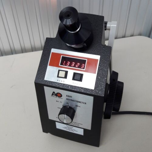 ABBE Refractometer AO model 10450 Measure Brix Bx-TC Nd