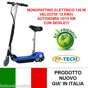MONOPATTINO-ELETTRICO-24-V-120W-E-SCOOTER-BICICLETTA-ELETTRICA-FULL-OPTIONAL