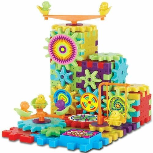 Motor+skills+Building+Blocks+Educational+Learning+3D+Spinning+Shapes+Puzzle+new