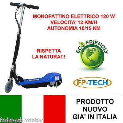 MONOPATTINO ELETTRICO 24 V 120W E-SCOOTER BICICLETTA ELETTRICA FULL OPTIONAL