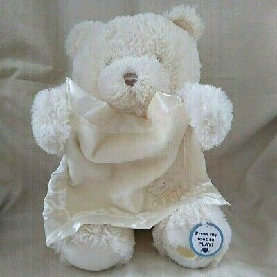 Baby Gund My First Teddy Peek a Boo Bear Cream Plush Animal Talking Animated