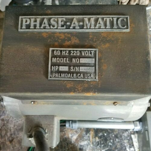 10 hp Phase-A-Matic Rotary Phase Converter complete system