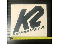 """2020 NITRO SNOWBOARD TEAM LARGE DIE CUT STICKER $6 White 10/""""x7/"""""""