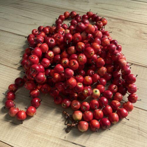 Miniature Apple Garland - Plastic - 4 sections at 5 Feet Long = 20 feet Autumn