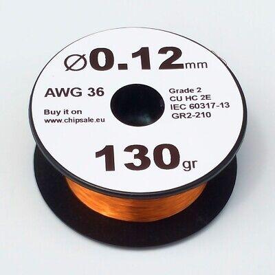 0.12 Mm 36 Awg Gauge 130 Gr 1250 M 4.5 Oz Magnet Wire Enameled Copper Coil