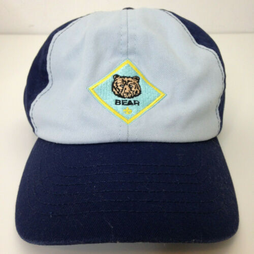 Cub Scouts *Bear* Hat Blue Sz M/L BSA Boy Scout Hat Adjustable Cap Medium/Large