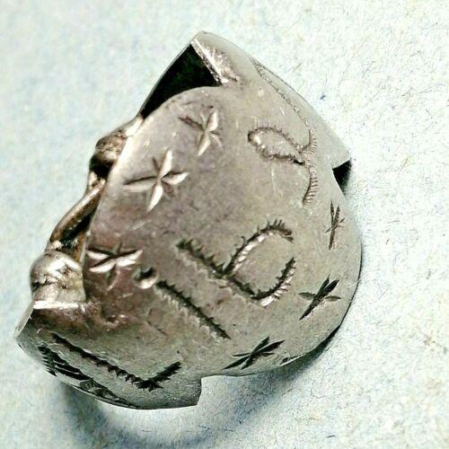 Rare Ancient legionary Roman Medieval Silvered Seal Ring *LIBER* Engraved