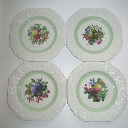 """Set of 4 LORD NELSON POTTERY ENGLAND FOR CUTHBERT HOUSE  8 1/2""""  FRUIT PLATES"""
