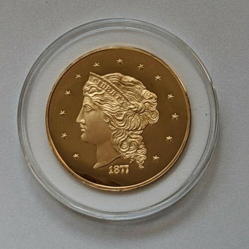 1877 $50 Dollar Half Union Proof Commemorative Coin 24KT Pure Gold Clad Bronze