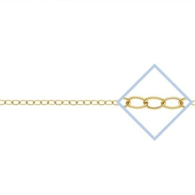14k Gold Filled 2.2mm Oval Link Cable Chain 6