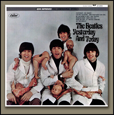 THE BEATLES BUTCHER COVER -STEREO- YESTERDAY & TODAY w/ RECALL LETTER