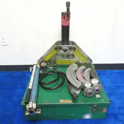 Greenlee 777 Hydraulic Bender With Hand Pump In Metal Case