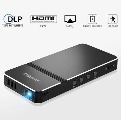 Pico Projector AKASO Mini Portable 1080P HD DLP LED 50 ANSI Lumens W Wifi HDMI U