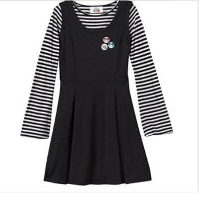 DISNEY D-Signed Girls Tsum Tsum Striped Graphic Jumper Dress NWT