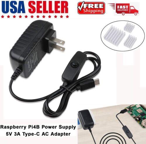 Raspberry Pi 4b Power Supply  AC Adapter 5V 3A USB-C Type-C