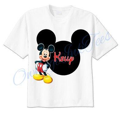 Mickey Mouse Mickey Ears Disney Custom T-shirt Personalize tshirt Birthday gift  (Personalized Mickey Ears)