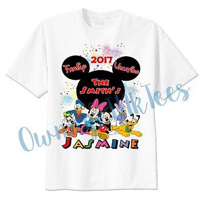 Disney World Family Vacation Custom t-shirt Personalize, Mickey Ears, DisneyLand (Personalized Mickey Ears)