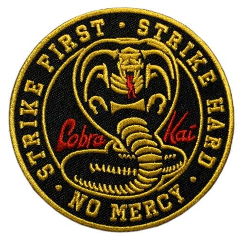 "Cobra Kai No Mercy Strike Hard Patch [""Velcro Brand"" Fastener-3.5 inch-KP-5]"