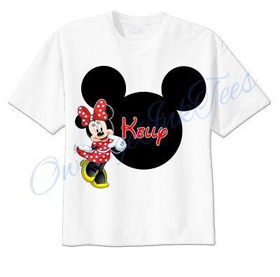 Minnie Mouse Mickey Ears Disney Custom T-shirt Personalize tshirt Birthday gift  (Personalized Mickey Ears)