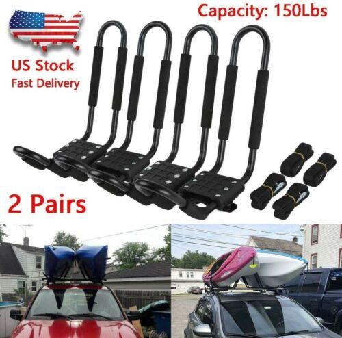⭐️2 pairs J Bar Pair Canoe Boat Kayak Roof Rack Car SUV Mount Carrier Cross Bar