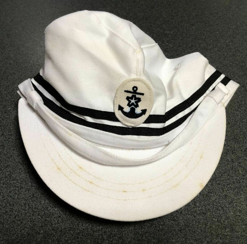 RARE Imperial Japanese Navy Sailor Cap Hat Anchor Military Antique 1940-1945