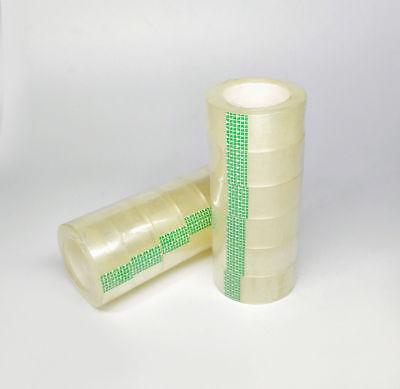 12 Rolls Crystal Clear Transparent Tape 34 X 1100 Dispenser Refill Tape Roll