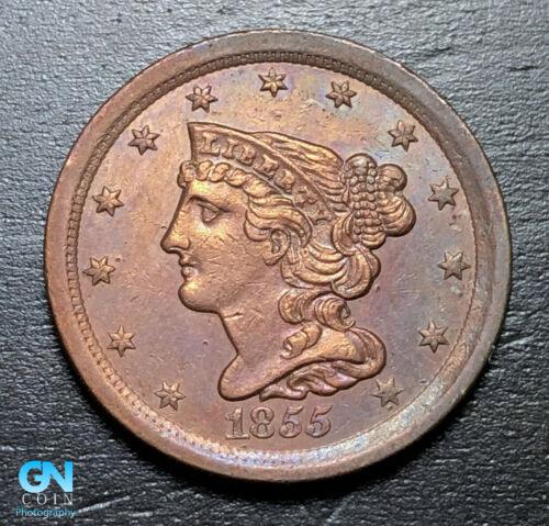 1855 Braided Hair Half Cent --  MAKE US AN OFFER! #B3266