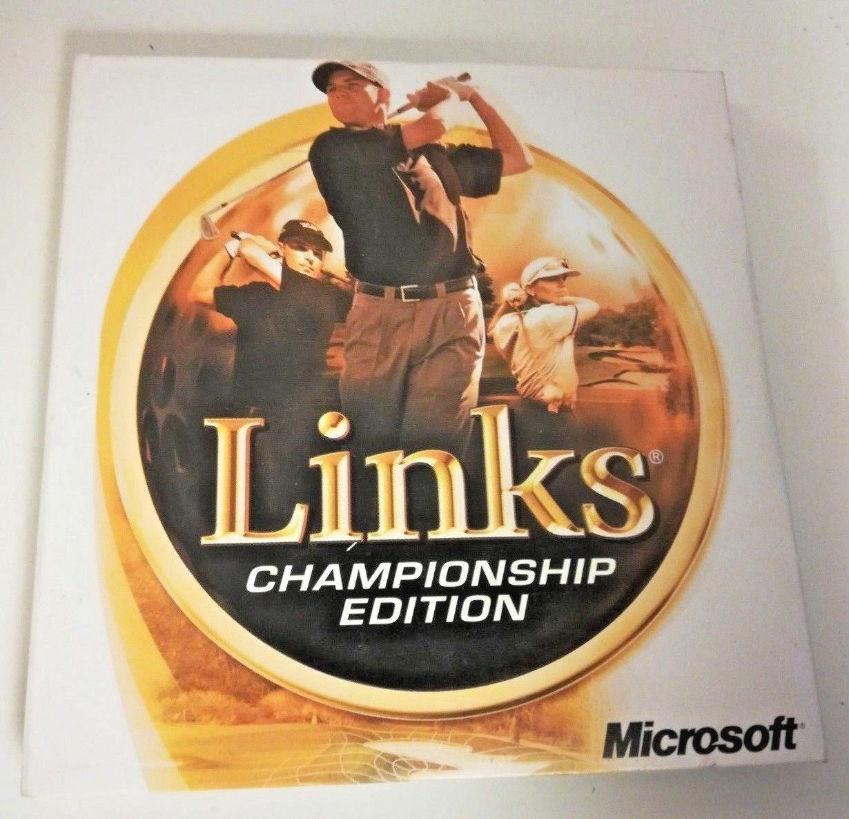 Links Championship Edition PC Windows Microsoft Game Software 4 Disc Set