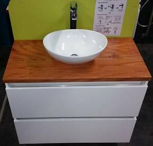 Australian Solid Timber Top 900 Vanity Unit Paradise Campbelltown Area Preview