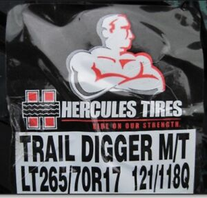 Hercules Trail Digger  M+S LT265/70R17 10ply Load Range E Tire
