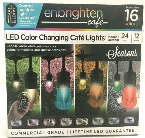 Enbrighten Cafe LED Color Changing Lights Indoor Outdoor, 16 Colors, Remote