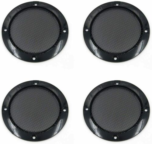 """New 3 Speaker Grill  Cover 3"""" ABS Plastic Cold Rolled Steel Set of 4"""