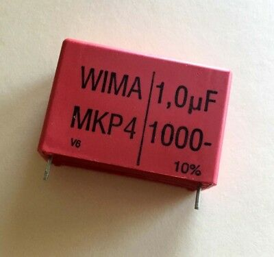 Two - Wima Mkp4 1uf 1000v Polypropylene Film Capacitors- Audio