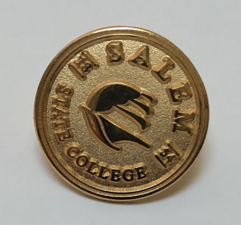 Vintage SALEM STATE COLLEGE Lapel Pin NEW OLD STOCK