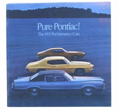 1971 Pontiac Performance Cars Brochure Gto Firebird Trans Am Gt 37 Judge