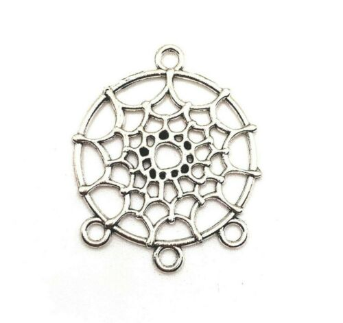 4, 20 or 50 pcs Silver Dream Catcher Connector Charms- US Seller - AS223