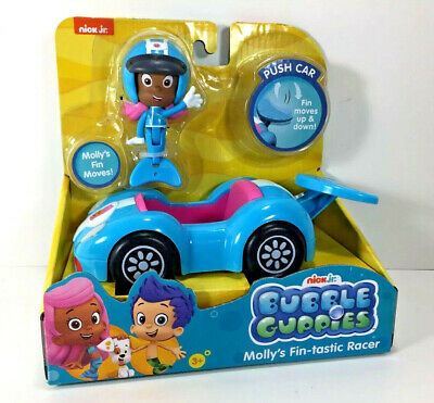 Nick Jr Toys (NEW Nick Jr BUBBLE GUPPIES Action FIGURE & VEHICLE Racer Fin-tastic MOLLY)