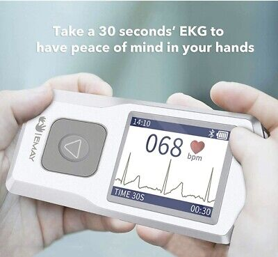 Emay Bluetooth Portable Ekg Ecg Monitor Model-20 Work With Android Or Iphone