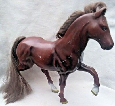 1995 Empire Grand Champion Brown Horse Figurine Toy 6 inches Brown Mane & Tail