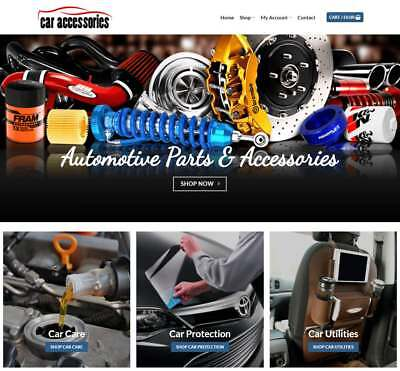 Car Accessories Website Business - Earn 298 A Sale. Instant Trafficdomain