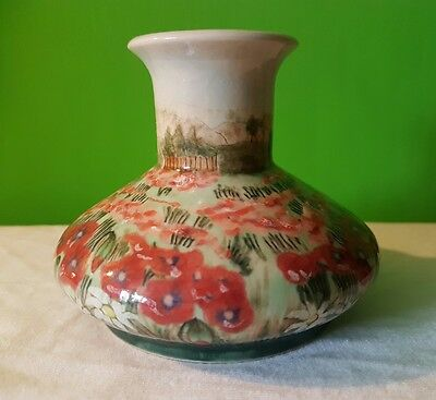 Cobridge Stoneware Poppy Vase (Moorcroft) Trial Piece Dated 2000