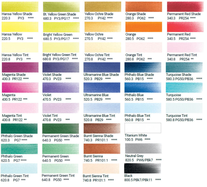 Pan Pastels - 9ml - 42 colours and accessories - sold individually